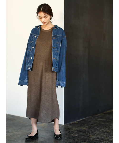 [CRAFT STANDARD BOUTIQUE] 【2019AW】KNIT ONE-PIECE/ラグラン片畦ニットワンピース〇