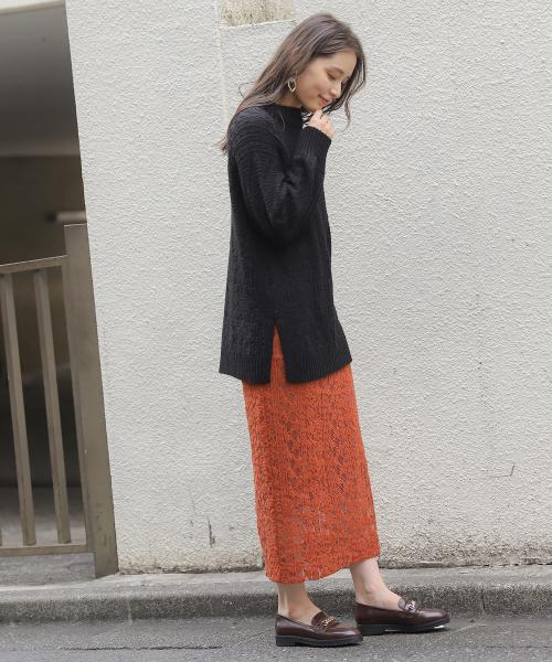[mysty woman] ナローレーススカート 858441