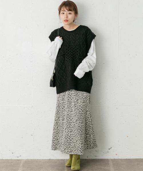 [URBAN RESEARCH] レオパードナロースカート