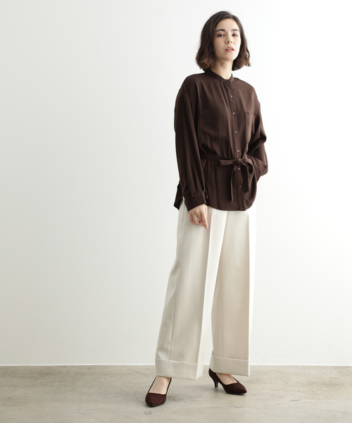 [ADAM ET ROPE'] BUCATINI WIDE PANTS