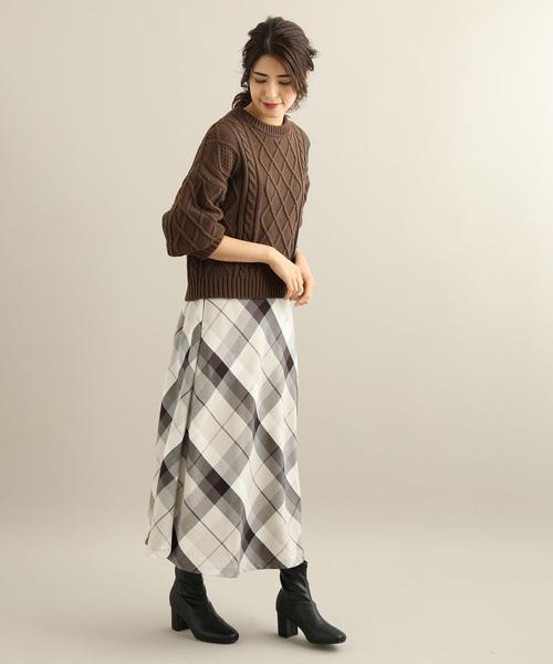 [ViS] チェックフレアスカート