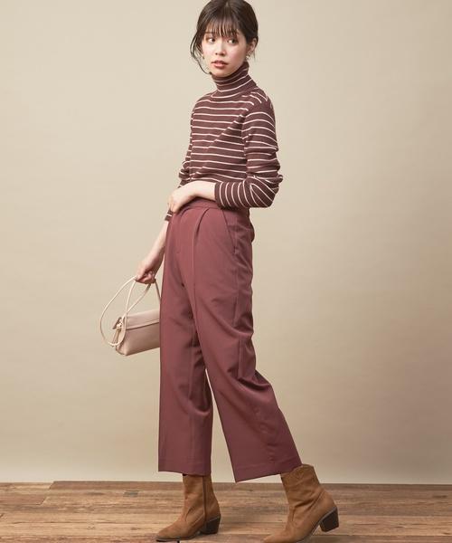 [natural couture] 便利なもちもちリブタートル