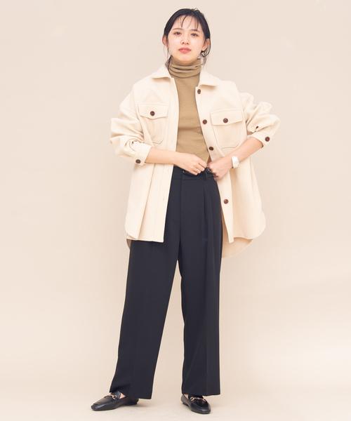 6[YARD PLUS/AUNT MARIE'S] AUNT MARIE'S メルトンCPOシャツジャケット