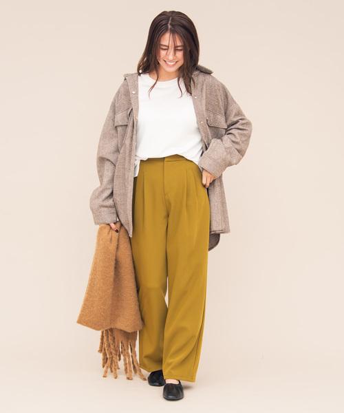 4[YARD PLUS/AUNT MARIE'S] AUNT MARIE'S ヘリンボーンCPOシャツジャケット