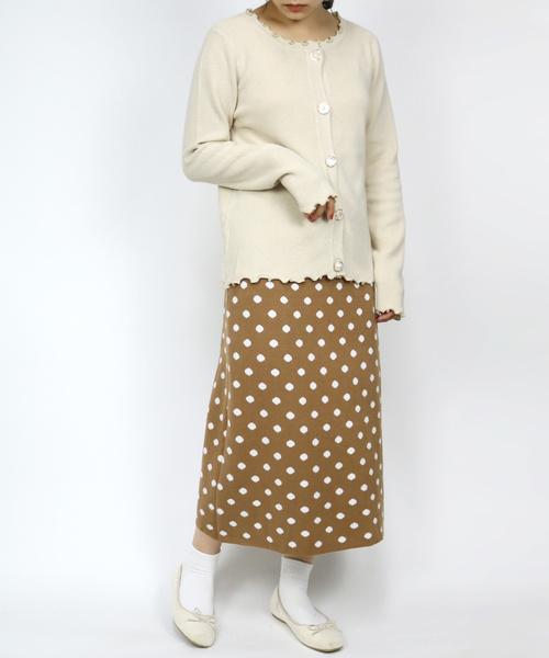 [ParAvion] K/ドットニットスカート