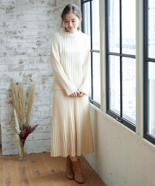 [ROPE' PICNIC] 【meiji THE Chocolate×ROPE' PICNIC】ニットスカート