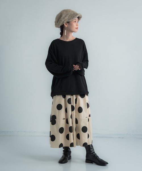 [Auntie Rosa] Libra ドットギャザー切替スカート