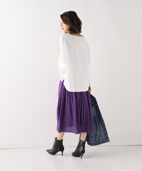 [Spick & Span] ヴィンテージサテンギャザースカート◆