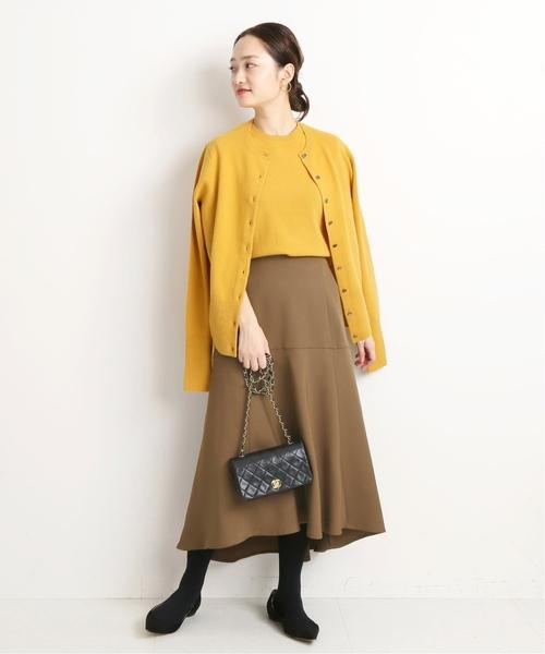 [IENA] ペプラムカラースカート◆