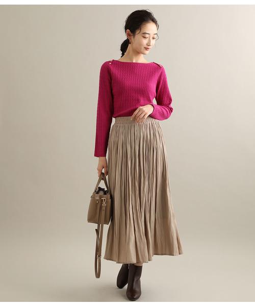 [ViS] マットサテンロングスカート