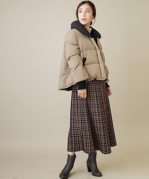 [MERVEILLE H.] 河田フェザー ショート ダウンコート