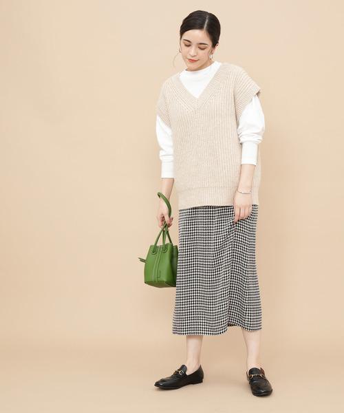 [ADAM ET ROPE'] ジャガードIラインスカート