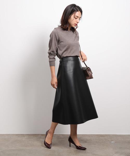 [ROPE'] エコレザーリバーシブルスカート