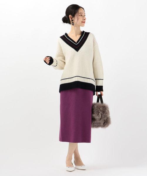 [SHIPS for women] 【セットアップ対応可能】スカート