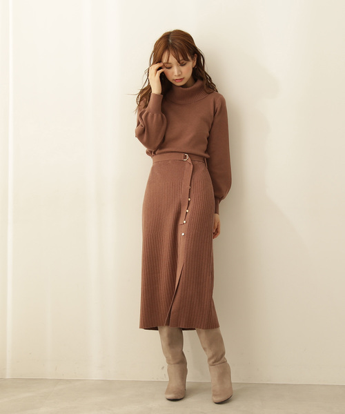 [PROPORTION BODY DRESSING] オフタートルネック&タイトスカートセットアップ