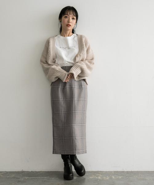 [LOWRYS FARM] ウールライクタイトスカート 856553