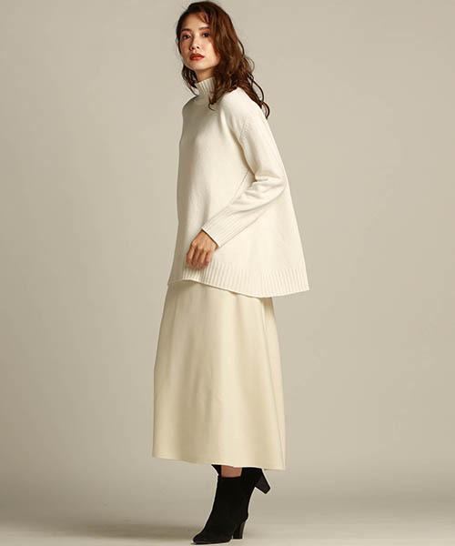 [LAUTREAMONT ONLINE SHOP] 圧縮ジャージ使用のフレアースカート