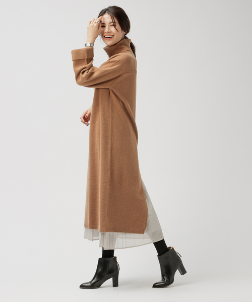 [BABYLONE] ホイルプリーツスカート