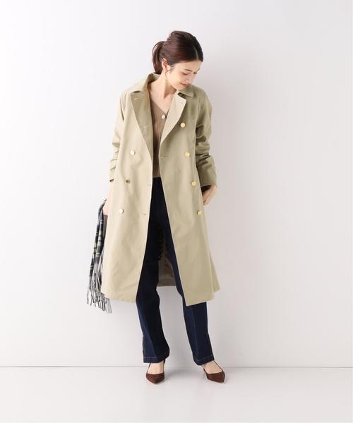 [Spick & Span] 【Traditional Weatherwear】別注ライナーツキロングダブルコート◆