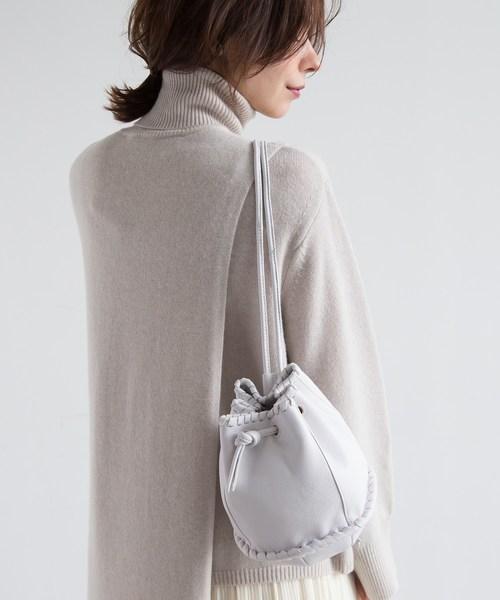 [aquagirl] mica della valle レザー巾着ミニショルダーバッグ