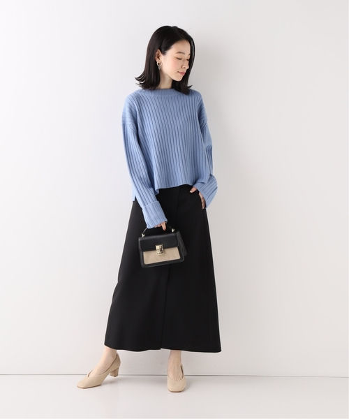 [IENA] ラップ風ロングスリットスカート◆