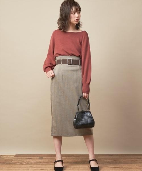 [natural couture] バルーンスリーブニット