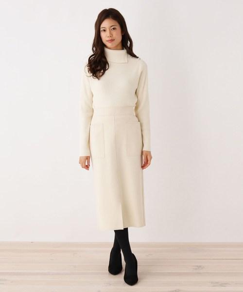 [SOUP] フロントスリットロングタイトスカート