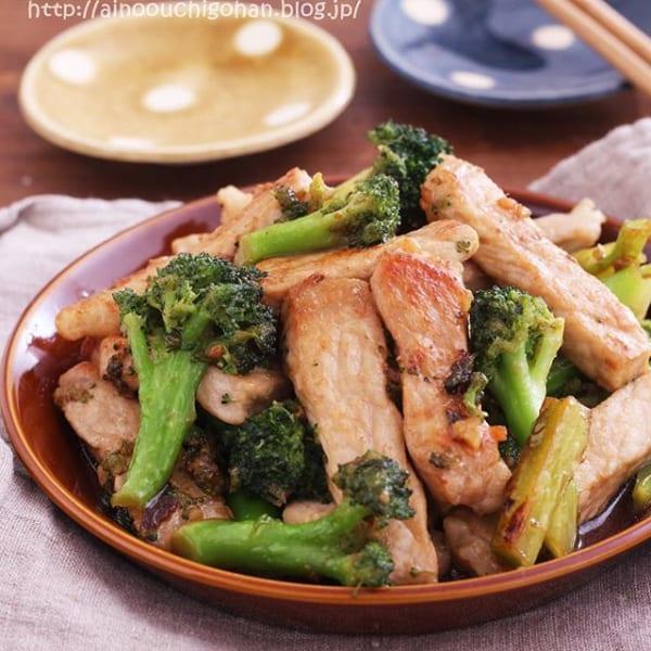 豚肉とブロッコリーの簡単ガーリックステーキ