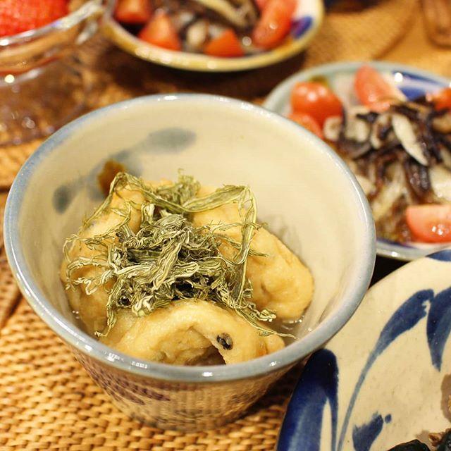 美味しいレシピ!がんもの出汁煮とろろ昆布のせ