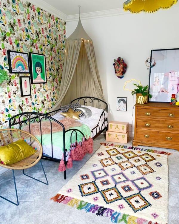 カラフルな色使いが可愛い海外の子供部屋