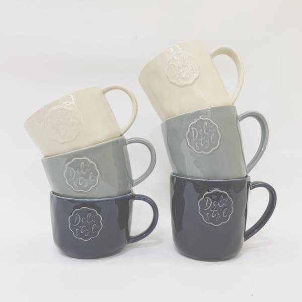 シーリングスタンプ風デザインのマグカップ