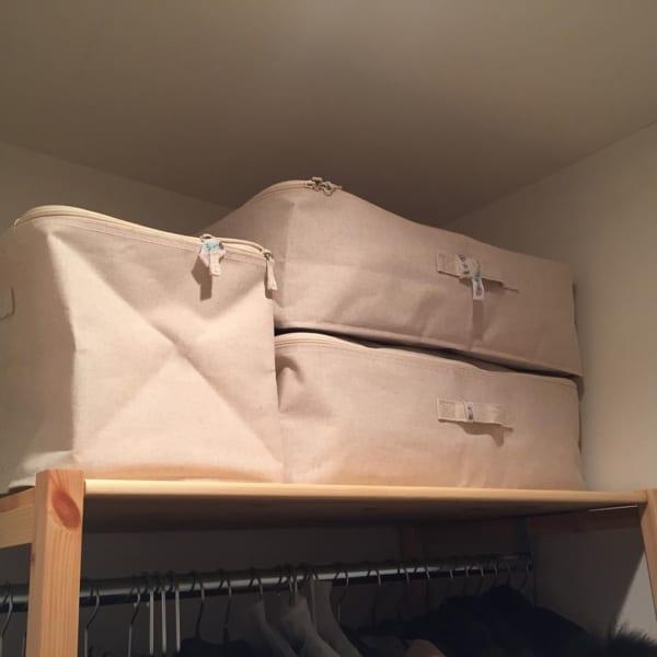 ソフトボックスでクローゼットの布団収納