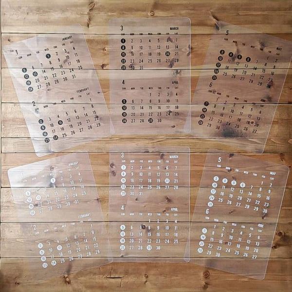 クリアシートカレンダー&万年カレンダー2