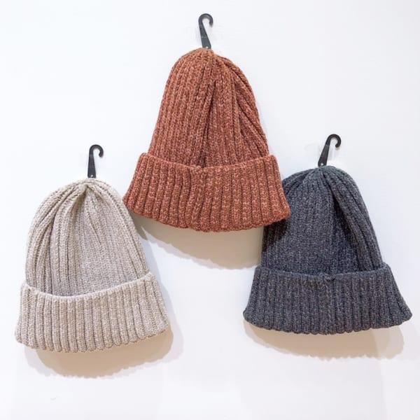 冬にかぶりたいニット帽(3COINS)