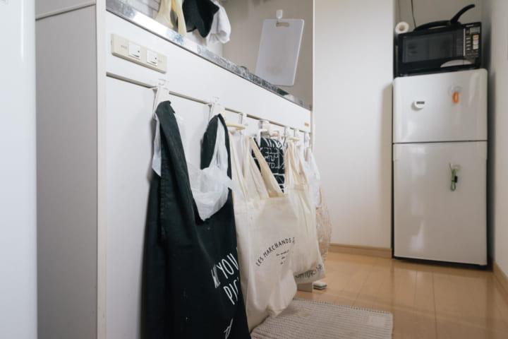 キッチンにゴミ箱を置かないレイアウト