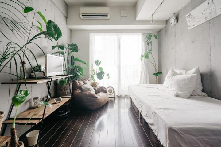 長方形 7畳部屋 レイアウト 家具の配置4