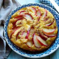 【連載】フライパンで簡単!ホットケーキミックスでキャラメルりんごのバターケーキ