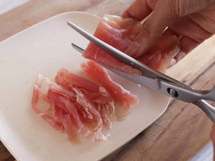 柿と生ハムのおつまみピザ4