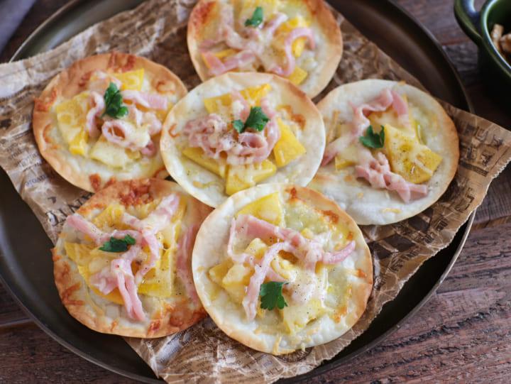 柿と生ハムのおつまみピザ7