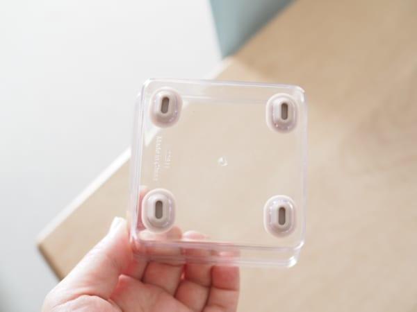 1.キッチンの小物収納に便利!「ノンスリップクリアBOX」2