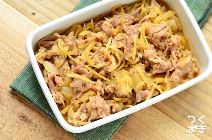 冷えを改善する生姜たっぷり!豚肉の味噌しぐれ煮