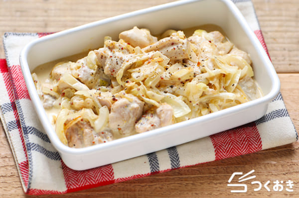 作り置きにレシピに!鶏肉の粒マスタード煮