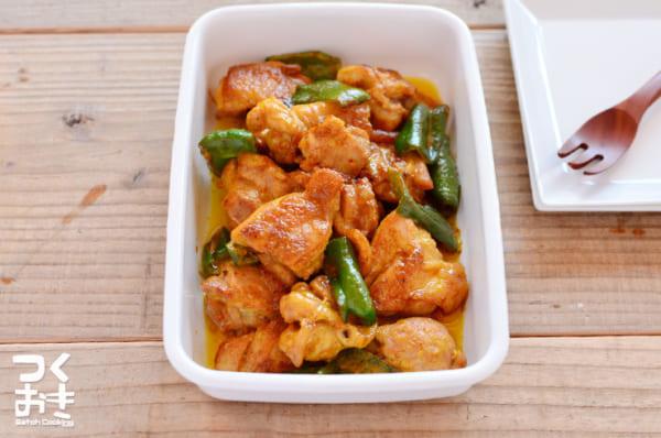 作り置きレシピに!ピーマンと鶏肉のカレーマヨ炒め
