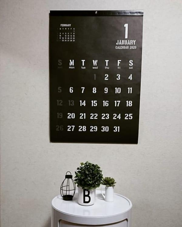 クールなブラックカレンダー