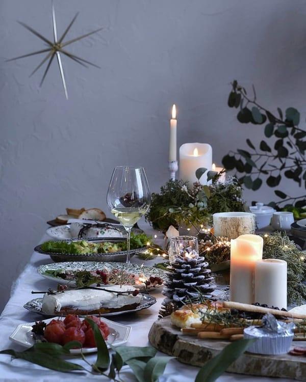 クリスマスの素敵なテーブルシーン4