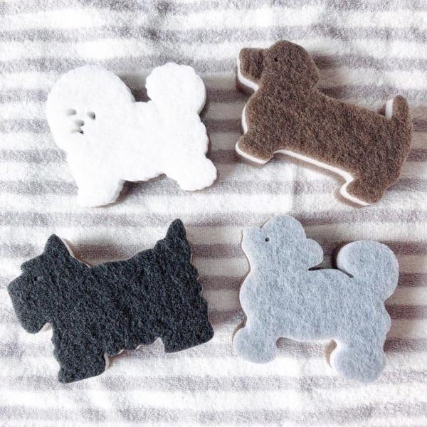 ダイカットがカワイイ♡犬×キッチンスポンジ