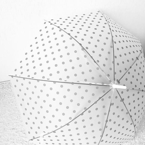 ドット柄ビニール傘