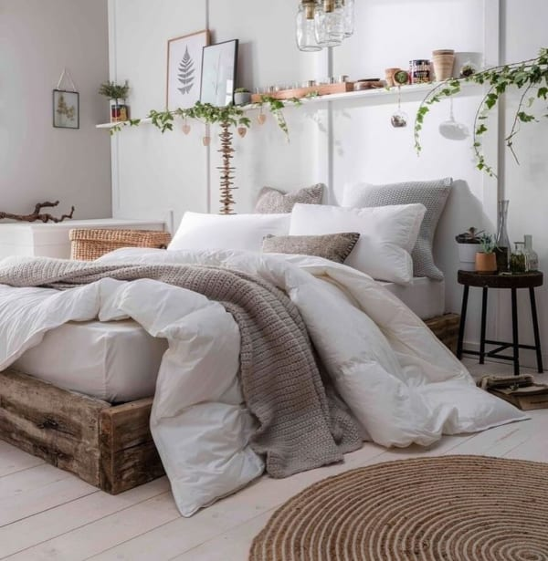 冬 海外 ベッドルーム インテリア7