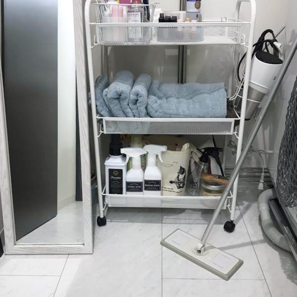 バスルームの収納レイアウト