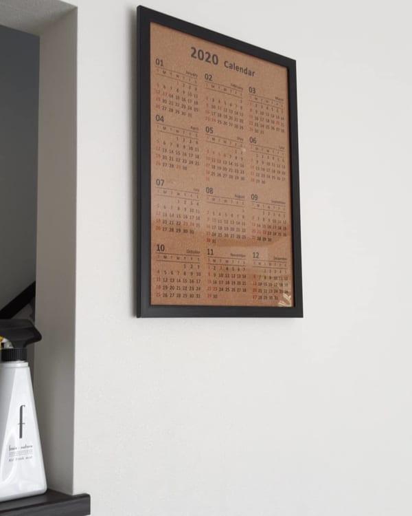 A3サイズ12か月コルクカレンダー
